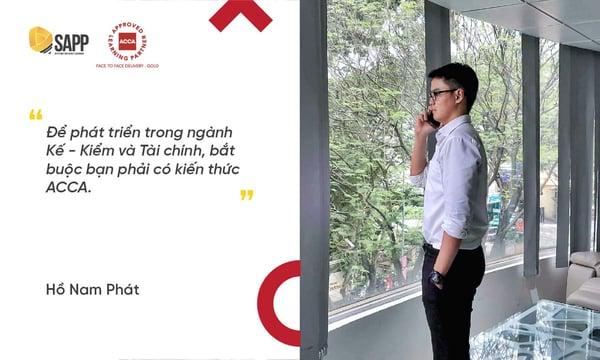Hồ Nam Phát - học viên SAPP Academy trúng tuyển BIG4 là KPMG và PwC