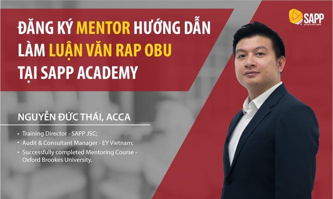 Đăng ký Mentor làm luận văn RAP OBU tại SAPP Academy