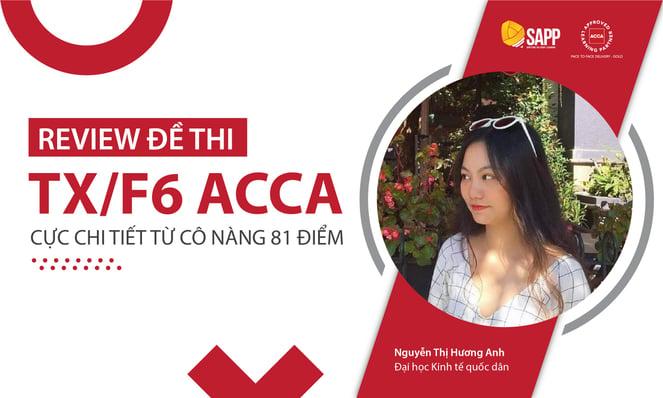 Học viên SAPP đỗ điểm cao môn TX/F6 ACCA