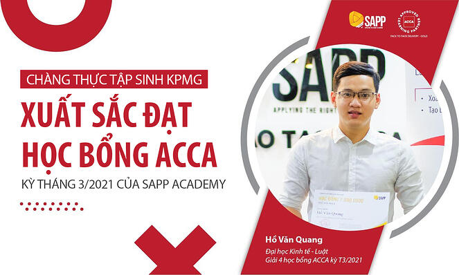 Học bổng ACCA kỳ T3/2021 - SAPP Academy