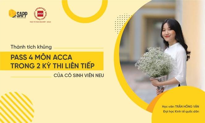 Tỷ lệ đỗ ACCA của SAPP Academy vượt trội hơn toàn cầu