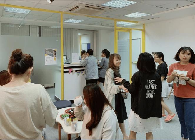 Không gian trao đổi giữa các học viên tại SAPP