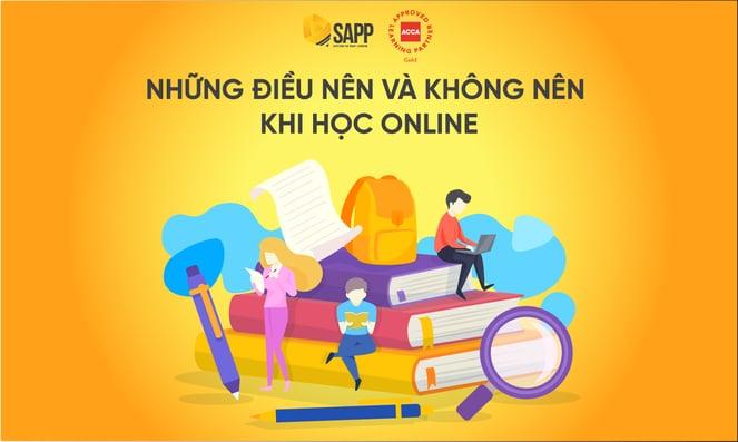 Blog- Những điều nên và không nên khi học Online - SAPP