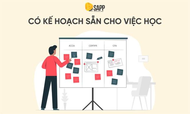 Blog - Có kế hoạch sẵn cho việc học - SAPP
