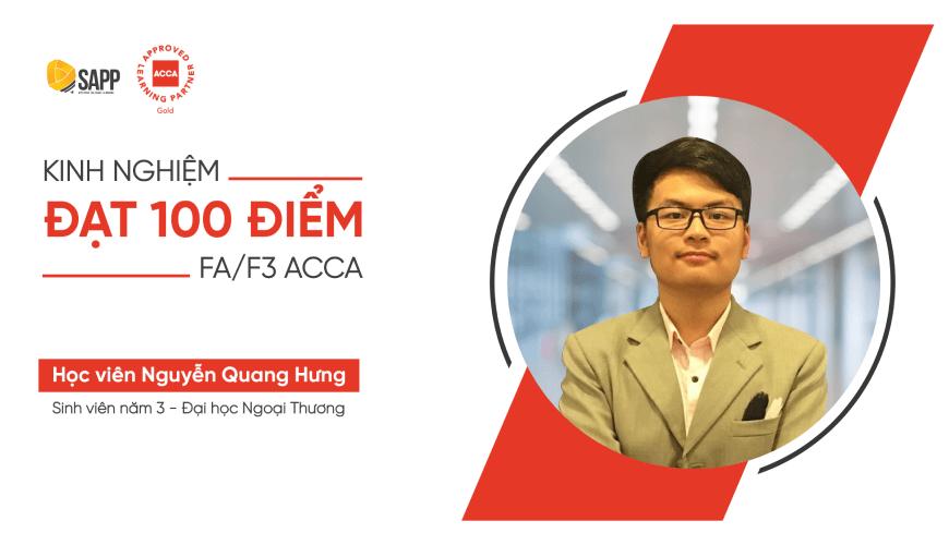 Kinh nghiệm thi 100 điểm Financial Accounting ACCA