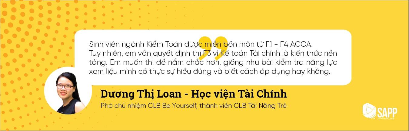 Luyện Thi F3 ACCA Với Dương Thị Loan - Sinh Viên Học Viện Tài Chính