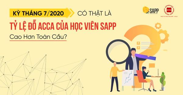 Tỷ lệ đỗ ACCA kỳ tháng 7/2020