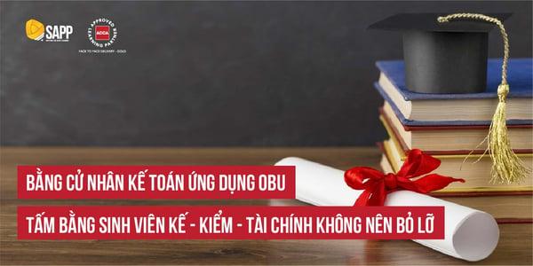 Bằng Cử nhân Kế toán ứng dụng OBU - Tấm bằng sinh viên Kế - Kiểm - Tài chính không nên bỏ lỡ