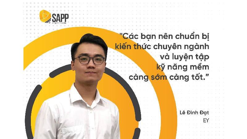 Lê Đình Đạt chuẩn bị tuyển dụng BIG4 ra sao để đỗ EY kỳ Internship 2020