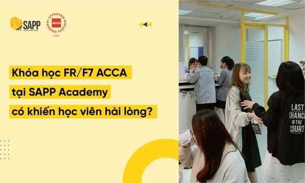 Khóa học FR F7 ACCA tại SAPP Academy