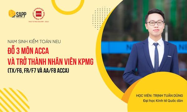 Nam sinh Kiểm toán NEU đỗ 3 môn ACCA và trở thành nhân v iên KPMG