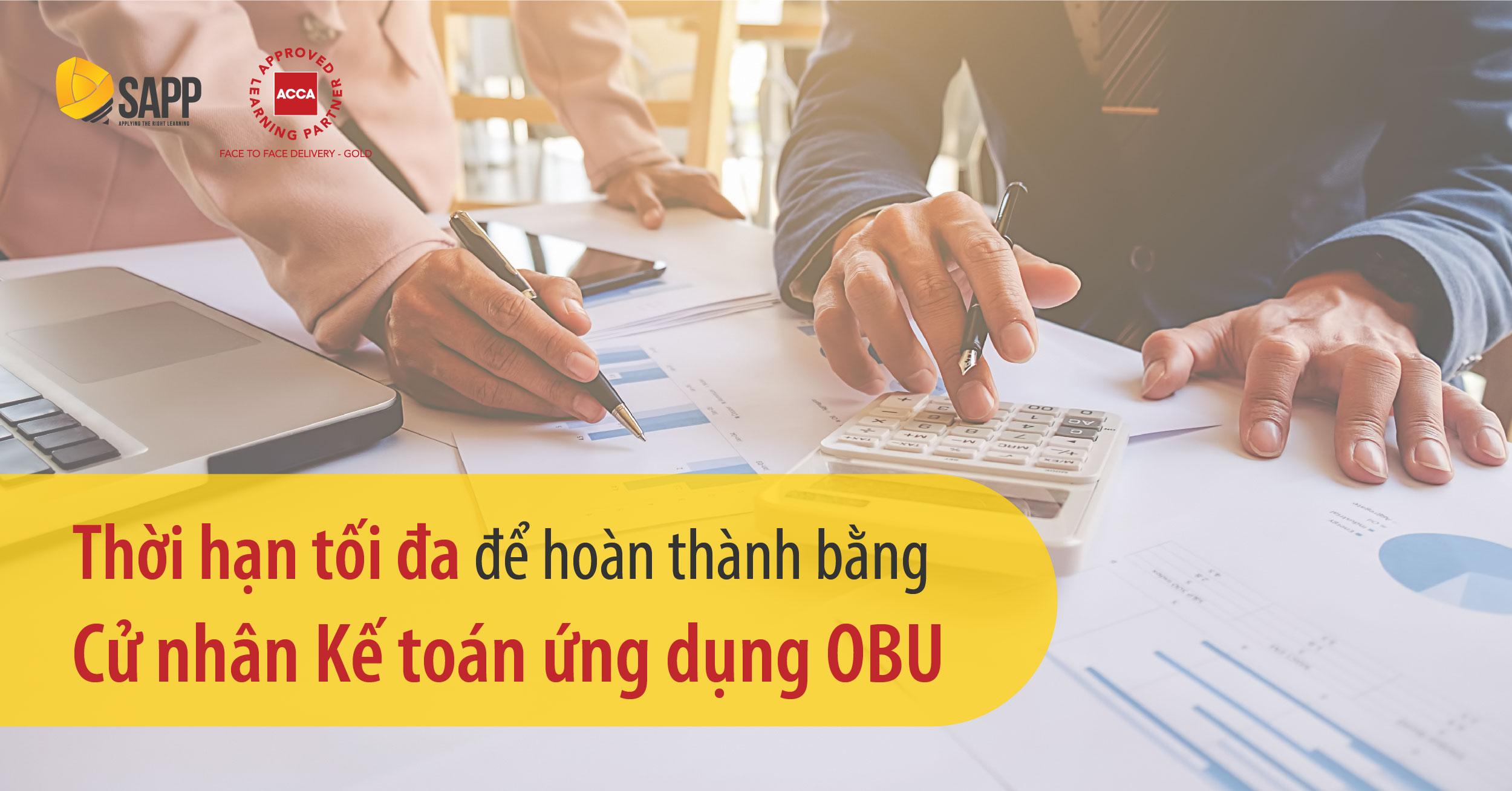Thời hạn tối đa để hoàn thành Bằng cử nhân Kế toán ứng dụng OBU