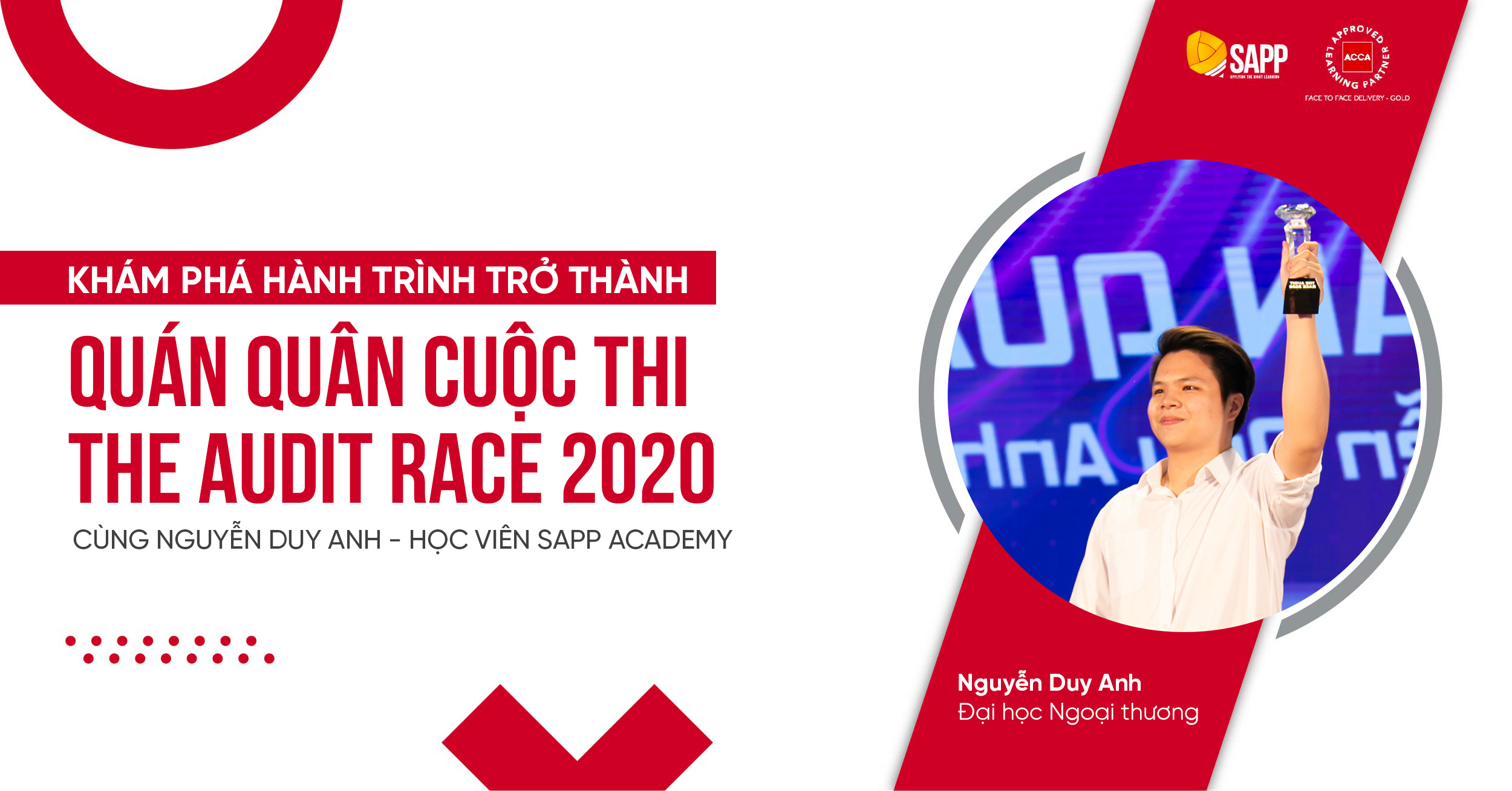 HÀNH TRÌNH TRỞ THÀNH QUÁN QUÂN THE AUDIT RACE 2020 CỦA DUY ANH - HỌC VIÊN SAPP ACADEMY