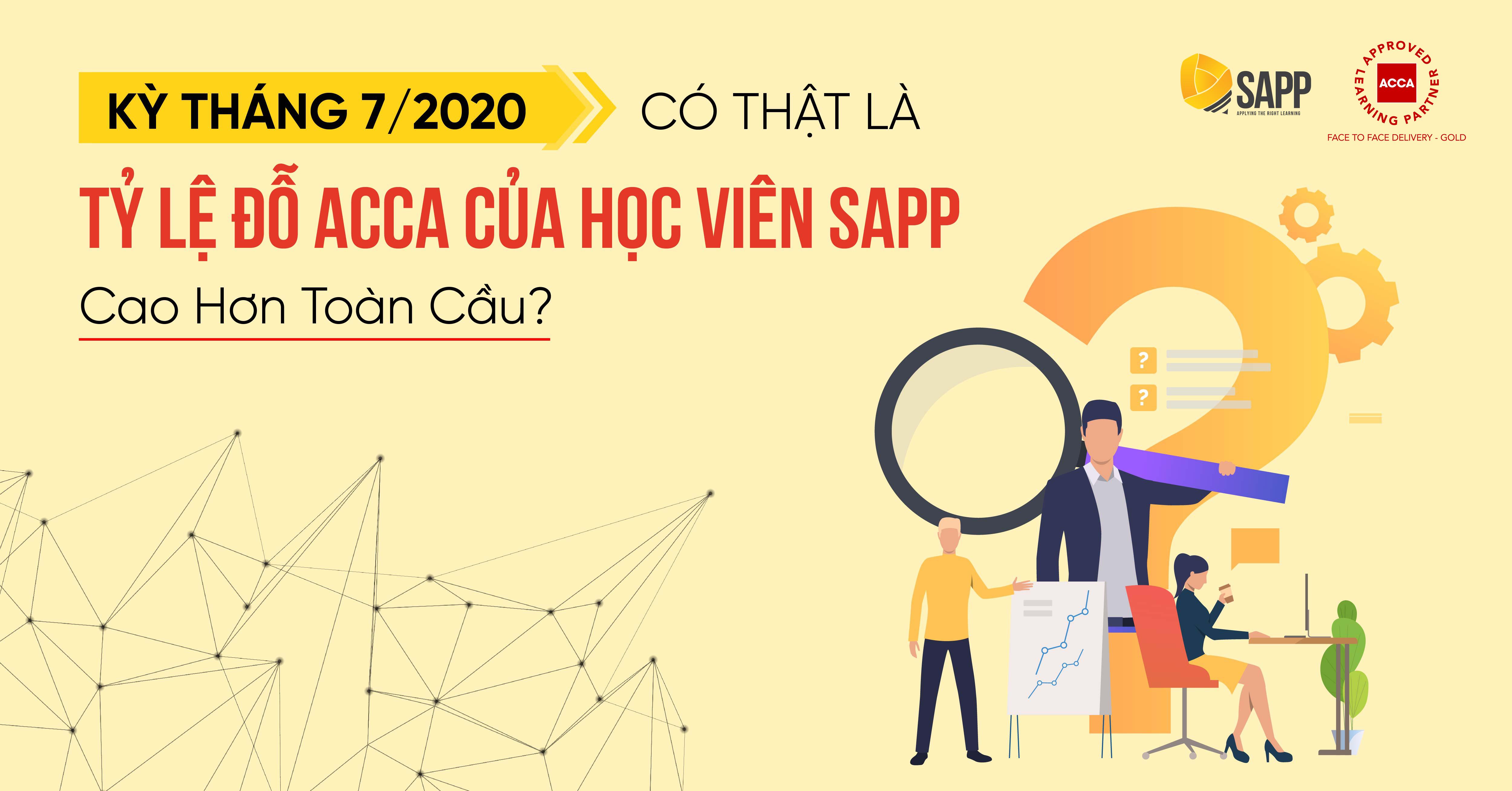 Tỷ lệ đỗ ACCA kỳ tháng 7/2020 tại SAPP Academy