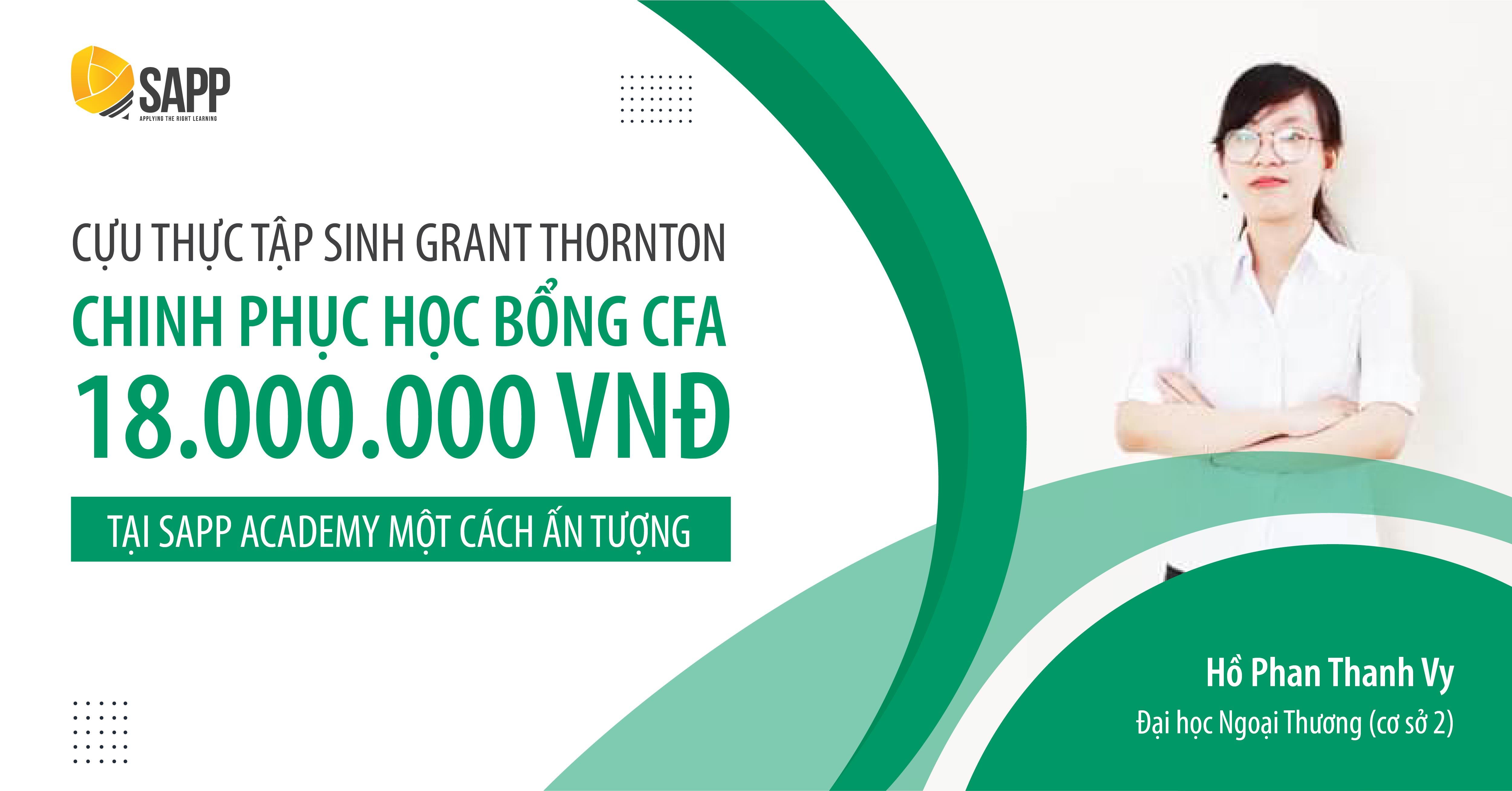 Cô nàng FTU chinh phục học bổng CFA 18.000.000 VNĐ một cách ấn tượng