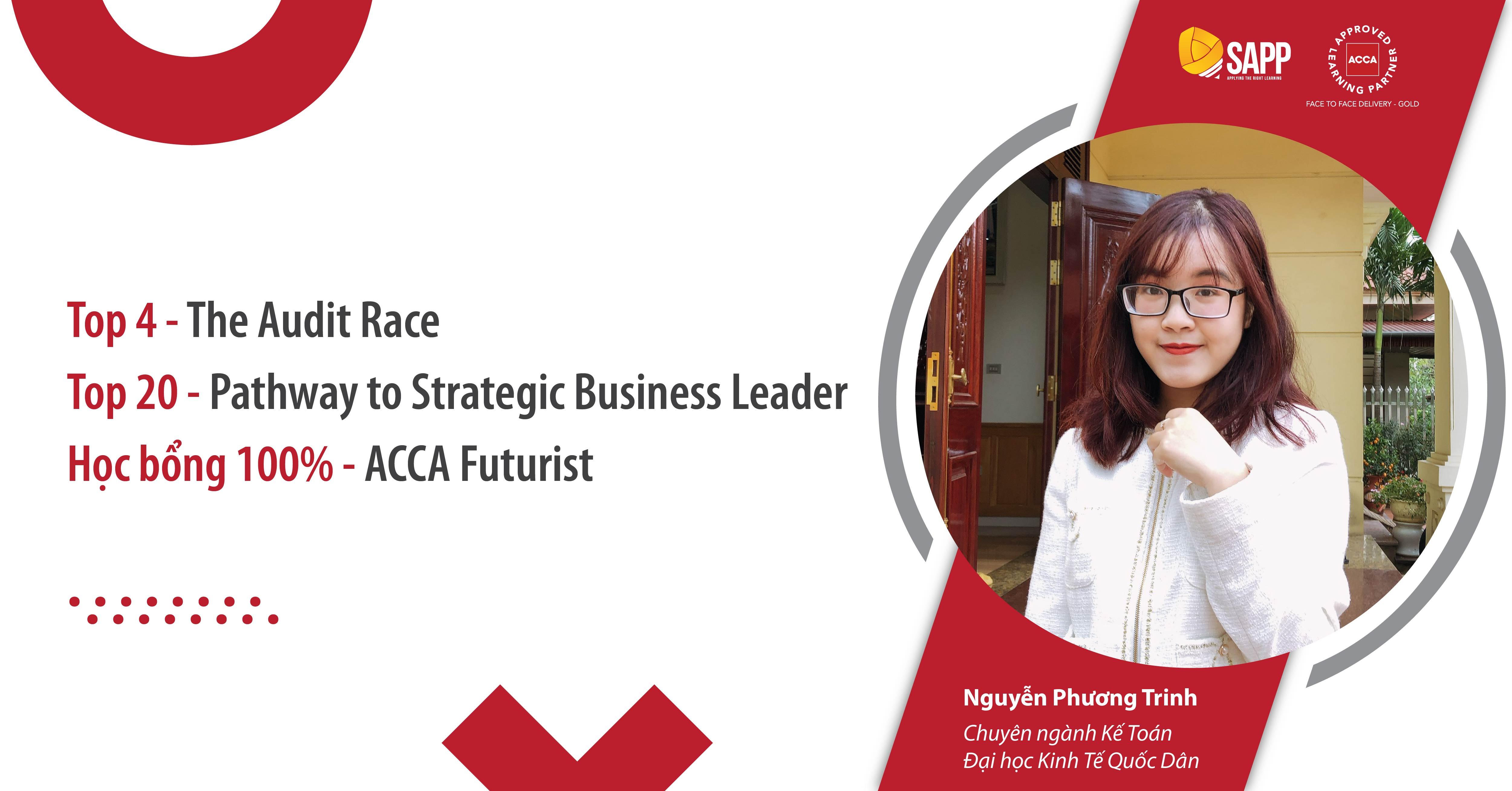 Thi đâu trúng đó, cô nàng Top 4 The Audit Race, Top 20 Pathway, chinh phục thành công học bổng ACCA từ SAPP Academy là ai?