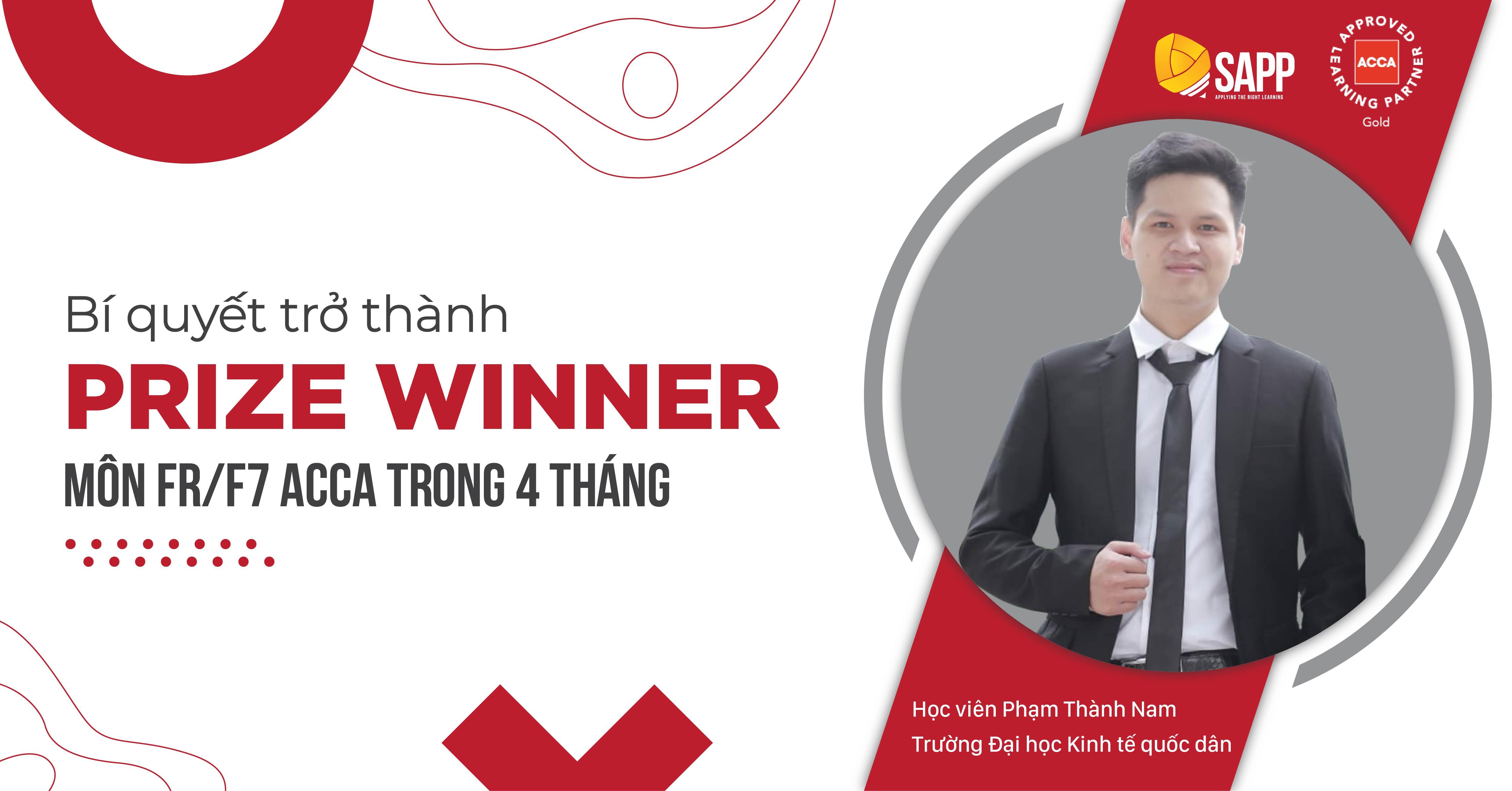 Bí quyết trở thành Prize Winner môn FR/F7 ACCA trong 4 tháng