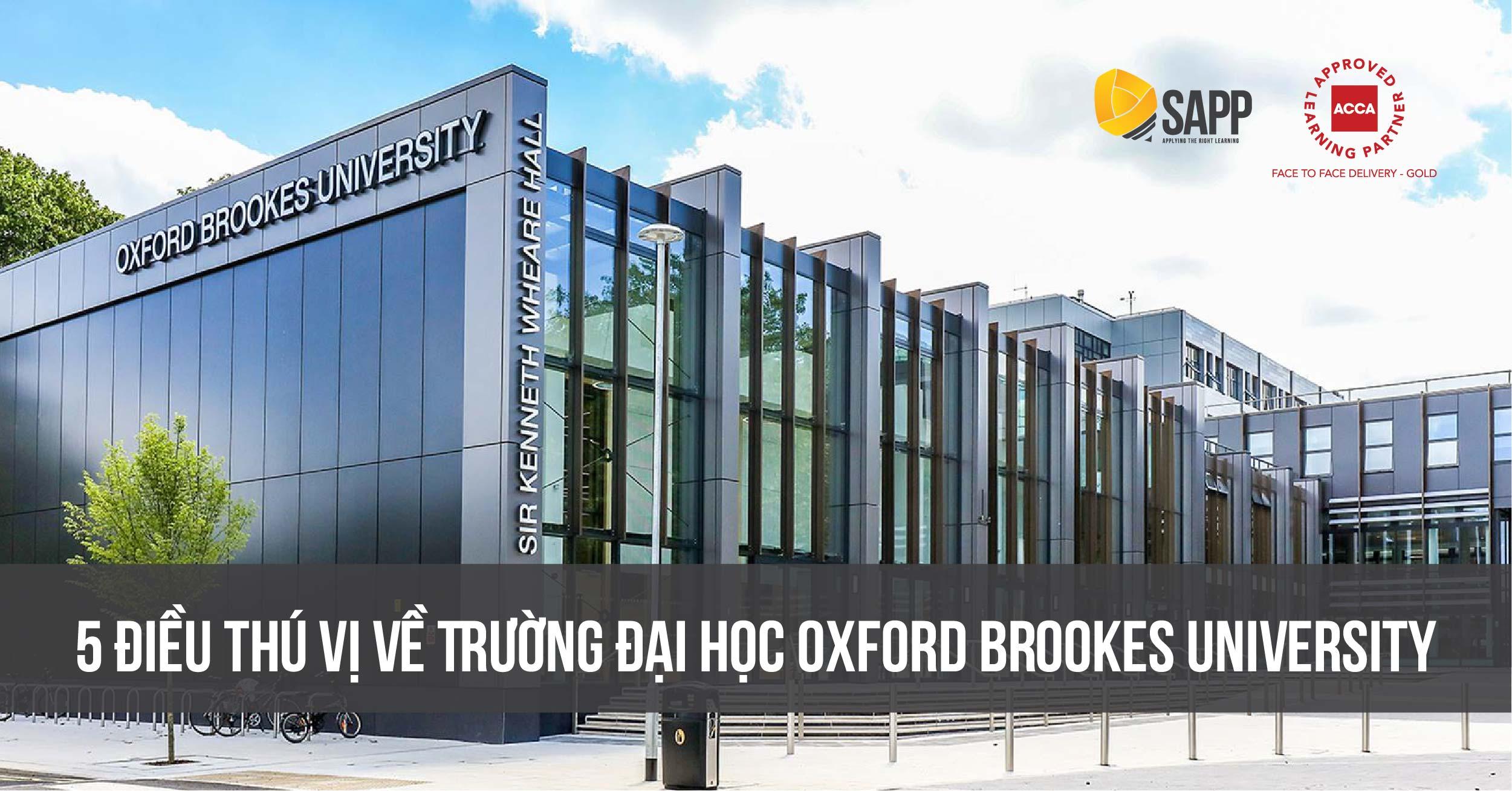 5 Điều Thú Vị Về Trường Đại Học Oxford Brookes University